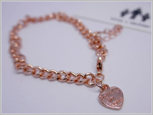ARMBAND + FUSSKETTCHEN | LOVE | ROSEGOLD